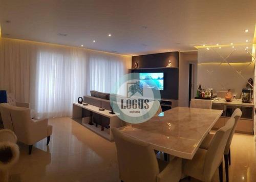 Imagem 1 de 24 de Apartamento Com 3 Dormitórios À Venda, 105 M² Por R$ 1.220.000 -  Paseo Diadema Residencial Club- Centro - Diadema/sp - Ap1840
