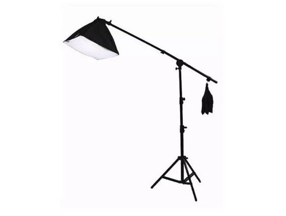 Kit De Iluminação Softbox C/ Girafa E Lâmpada De 135w 110v