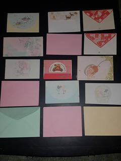 Lote 25 Envelopes/papel De Carta -diversos Modelos E Tamanho