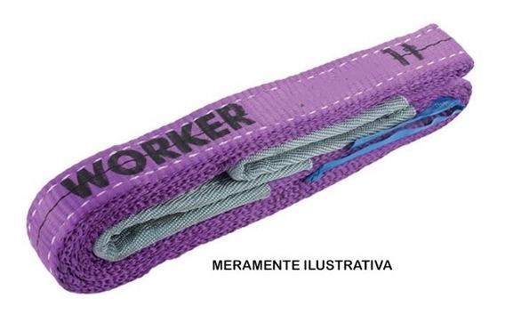 Cinta Fita Elevação Carga Worker 5,0 M 1 Tonelada