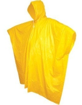 Impermeable Tipo Poncho Unitalla Color Amarillo C-35 Cabel