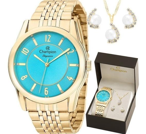 Kit Relógio Champion Feminino Barato Garantia Nfe