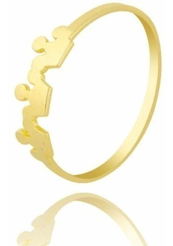 Anel Coroa De Ouro 18k. Frete Grátis