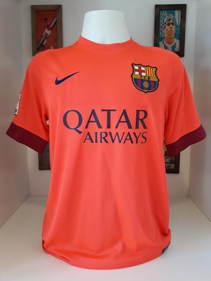 Camisa Nike Laranja Barcelona Qatar Airways Sem Numero