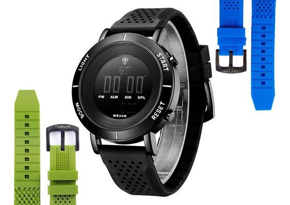 Relógio Esportivo Original Com Caixa + Pulseira Brinde