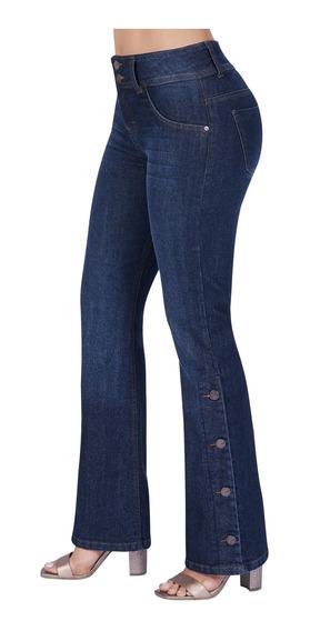 Jeans Acampanados Dama Tubo Mezclilla Strech Acampanados Ckl