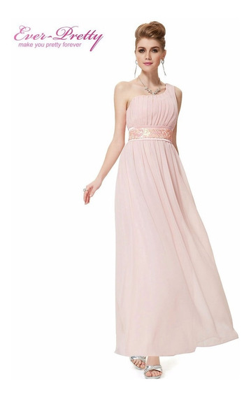 Vestido Ever-pretty Rosê Importado Pronta Entrega Brasil