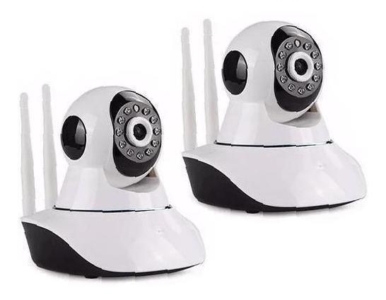 Kit 2 Câmera Ip Hd P2p Noturna Wireless App Camhi
