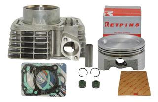 Kit Cilindro Cg 150 P/ 190cc Rik - Titan / Fan / Nxr / Bros