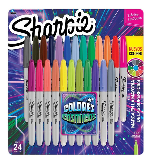 Marcadores Sharpie Permanente Punta Fina Cosmic X24 Colores