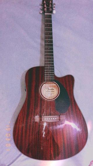 Violão Elétrico Fender Cd-60 Sce Dreadnought - All Mahogany