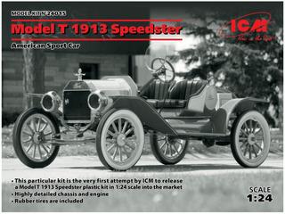 Icm 1/24 T Vado 1913 Speedster Modelo Coche 24015