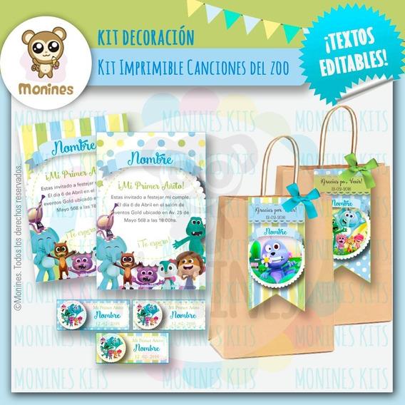 Canciones Del Zoo Kit Imprimible ¡editable O Personalizado!