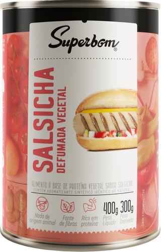 Imagem 1 de 1 de Salsicha Vegana Defumada 400g - Superbom