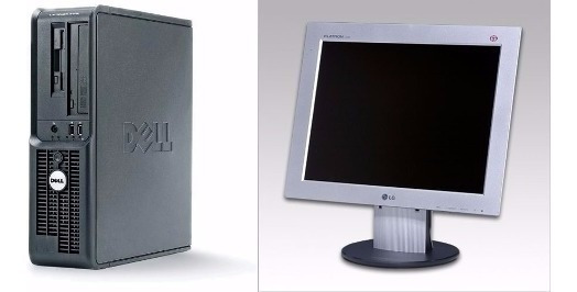 Computador Completo Dell Pentium 4/ 2gb/ Hd 80 + Monitor 15