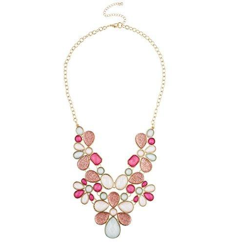 Tono Lux Accesorios De Oro Collar De La Declaración De Rosa