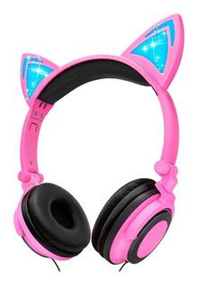 Vincha Auricular Orejas Gato C/luces Led Colores Mf Shop