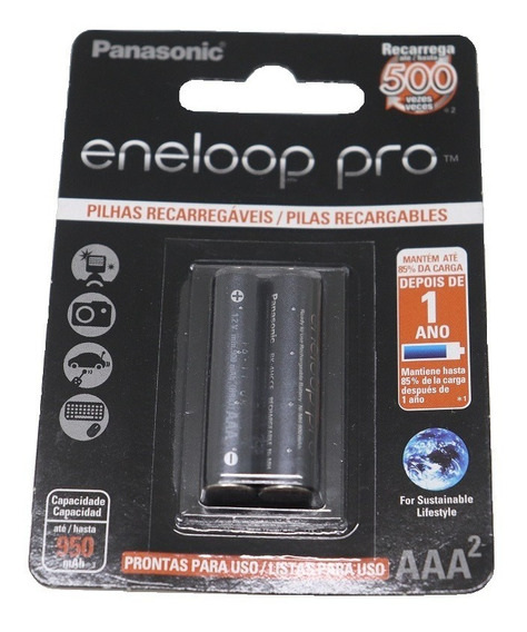 Pilha Palito Panasonic Eneloop 950mah Pro Original 8un Aaa