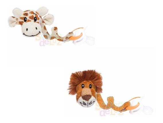 Prendedor De Chupeta Bebê Animais Zoo Leão Girafa + Brinde