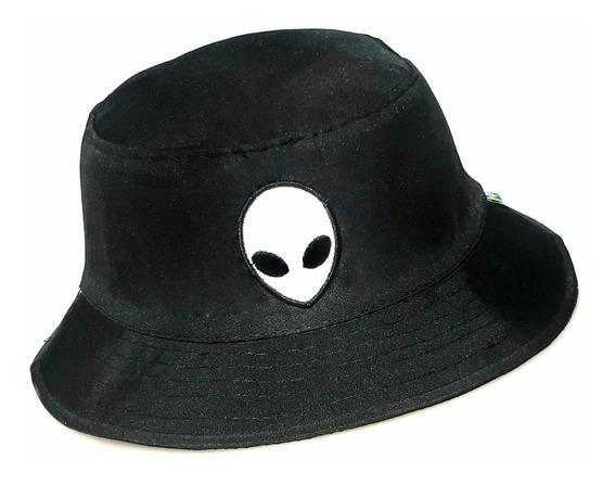 Chapéu Bucket Hat Preto Ou Branco Alien Et Promoção