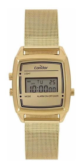 Relógio Condor Feminino Vintage Digital Cojh512ae/4d Dourado