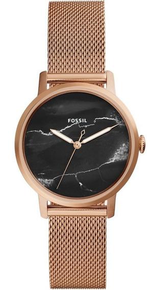 Relógio Feminino Fossil Neely Es4405 Rose Original