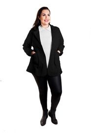 Roupa Feminina Casaco Blazer Manga Longa Plus Size +56