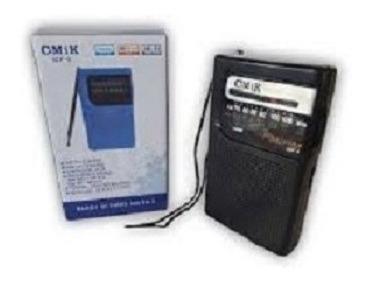Radio Portátil Cmik Lcf-9 Am Fm A Pilha Pequeno Entrada Fone