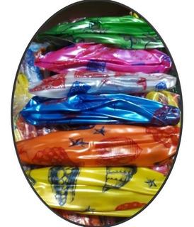 10 Pelota Plastico Colores Mayoreo Niño Fiesta Regalo