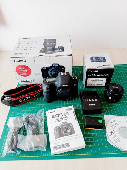 Canon 6d Fullframe + Lente 50mm 1.8 Stm +bateria +carregador