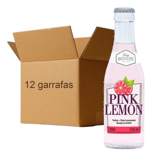 Imagem 1 de 3 de 12x Drink Pronto Easy Booze Vodka+pink Lemon 200ml