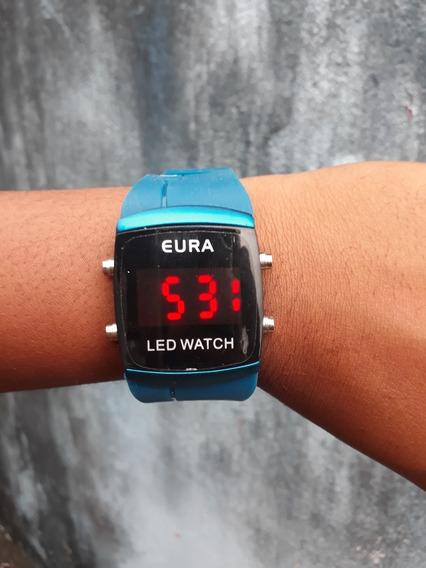 Relógio Led Unissex Da Marca Eura