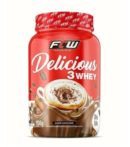 Delicious 3 Whey 900g - Ftw Sabor Cappuccino