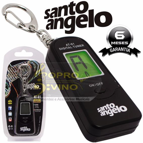 Afinador Santo Angelo Violão Guitarra Baixo Chaveiro At01