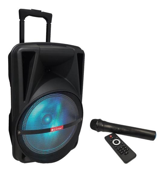 Caixa De Som Bluetooth Fm Com Microfone Sem Fio Livistar