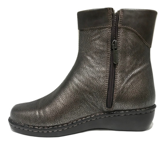 Bota Cavatini Puño Fl. Metalizado Chocolate -52-1583