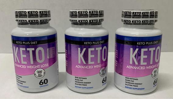 3 Keto Plus Diet Advanced Sellado Auténtico