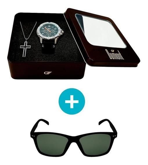 Kit Promocional: Relógio Dumont Masculino Analógico, Caixa 4