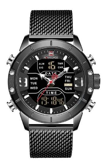 Relógio Masculino Naviforce Nf91 Anadigi Com Caixa Original