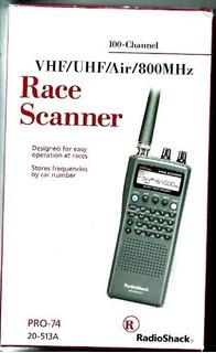 Escáneres De Radio Radios Cb Y Escáneres Pro-74 Radio Shack