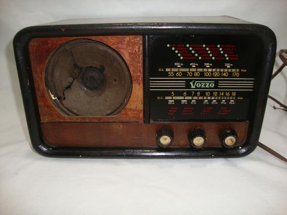 Antigo Radio Vozzo Valvula **não Funciona** Década De 50