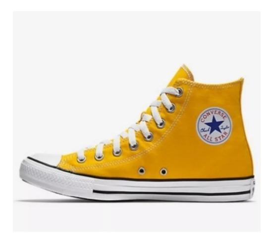 Tênis All Star Cano Alto Preto/amarelo/marinho/mostarda/verm
