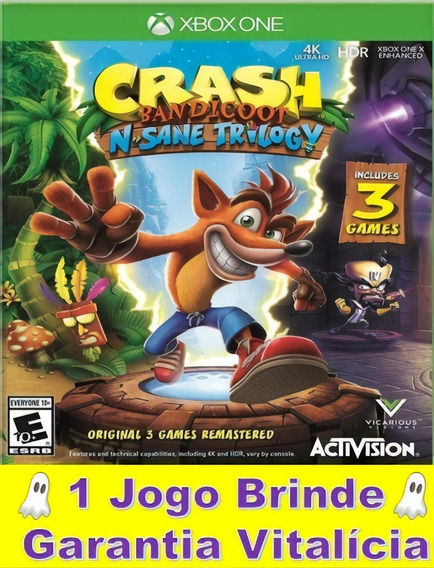Crash Bandicoot Xbox One Midia Digital Garantia Vitalícia