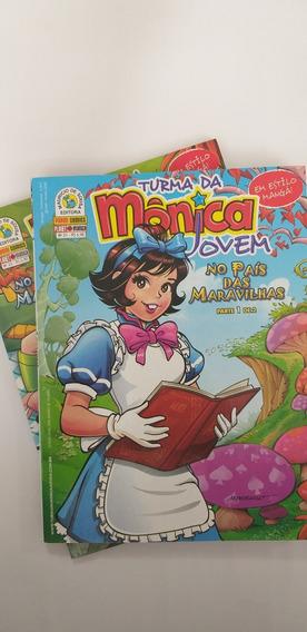 Kit Turma Da Monica Jovem Vol 21 E 22 No Pais Das Maravilhas