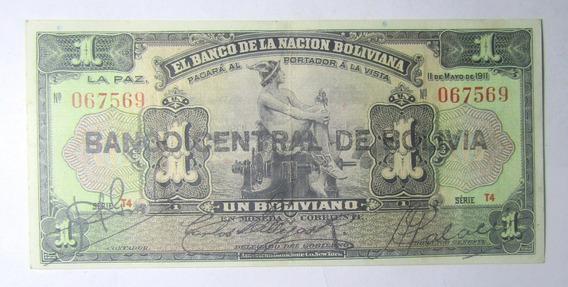 Bolivia Billete 1 Boliviano 1911 (1929) Pick 112 Vf