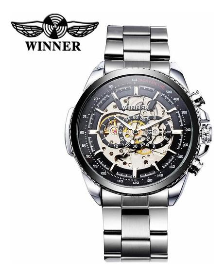 Winner Ahuecado-hacia Fuera Reloj Mecánico Semi Automático