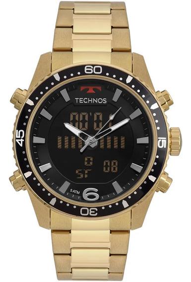 Relógio Technos Masculino Ts Anadigi Dourado - Bjk203aad/4p