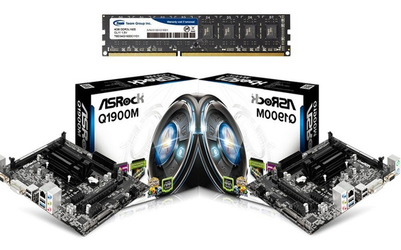 Combo Tarjeta Madre Asrock Q1900m + Proc Quad Core + Ram 4gb