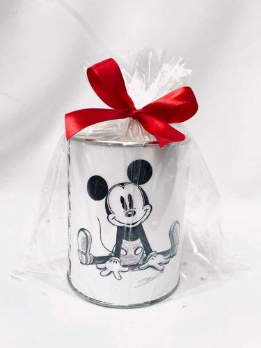 10 Sorpresa Infantil Mickey Minnie Alcancia Personalizada