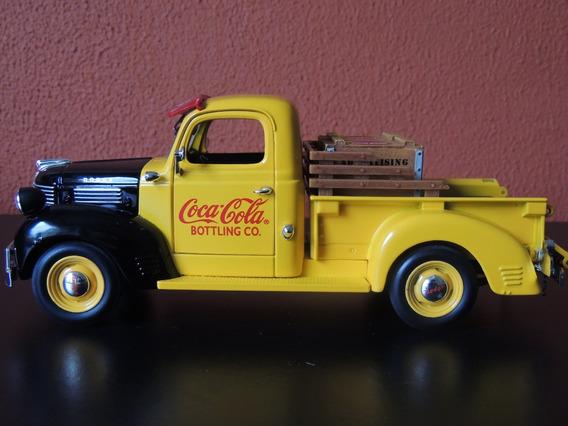 Miniatura Pick Up Coca Cola Amarela 1:24 Ertl